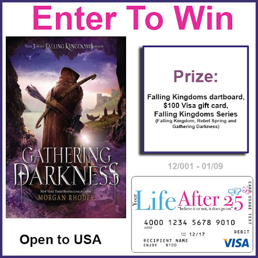 Win A Falling Kingdoms Series Prize Pack Giveaway! includes Visa GC #FallingKingdomsSeries - Your Life After 25: