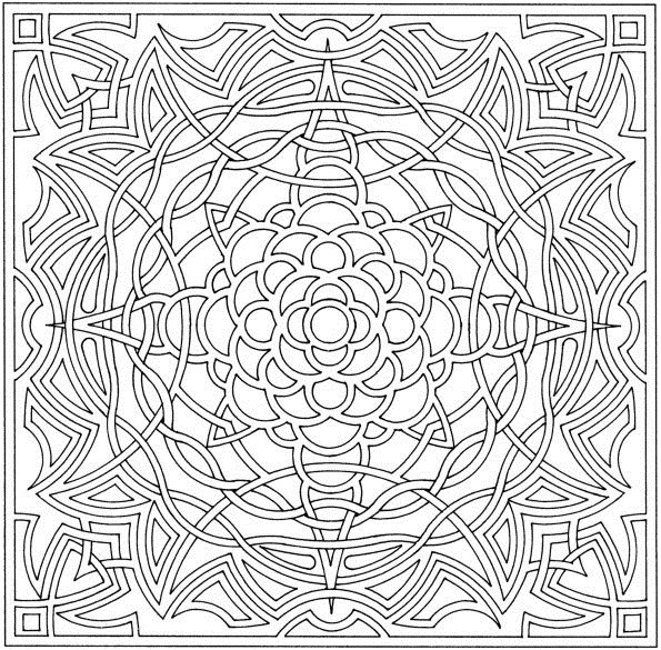 Free Complicated Coloring Pages Printable, Download Free Clip Art ... | 585x595