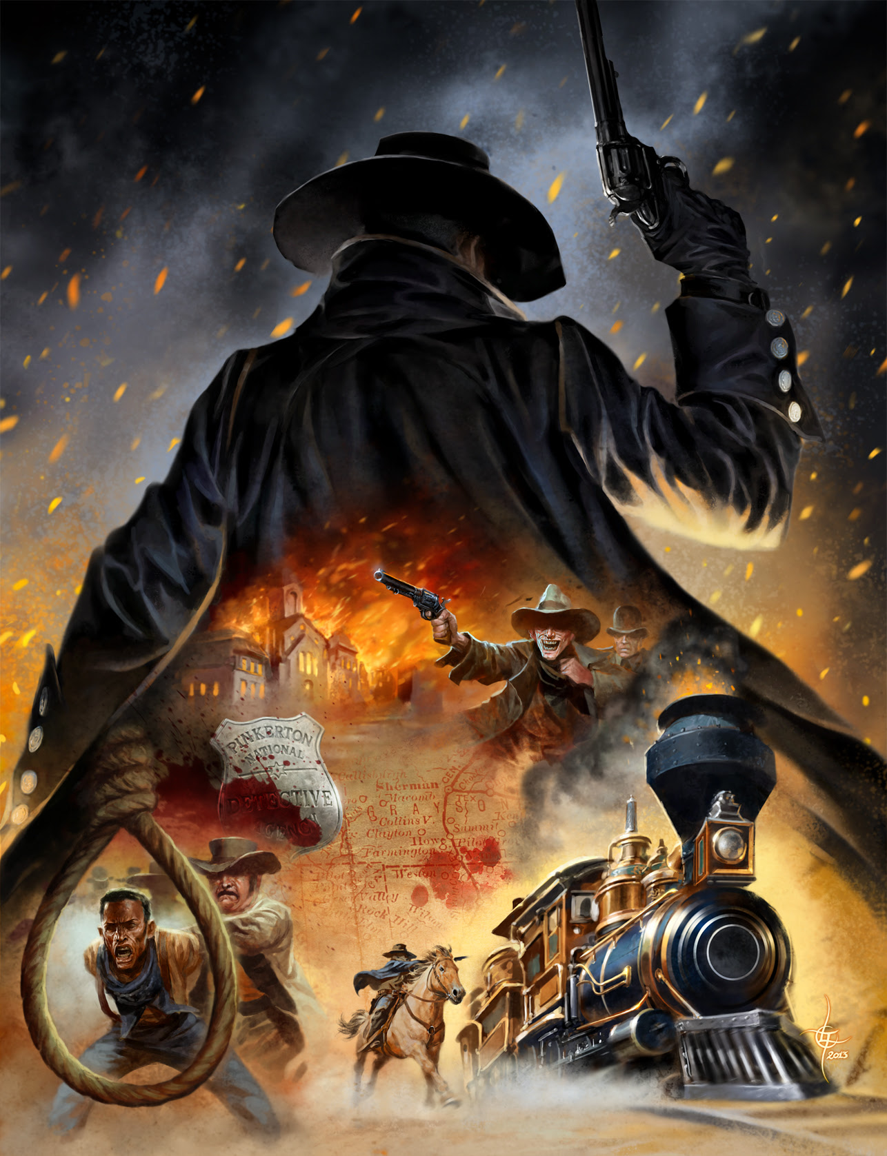 lukas thelin, 2013, western rpg, mannen i svart, the man in black, adventure, hell on wheels, train robbery, black hero