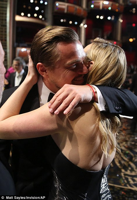 Hugging it out: It was plain to see the close bond and affection between the two A-list friends