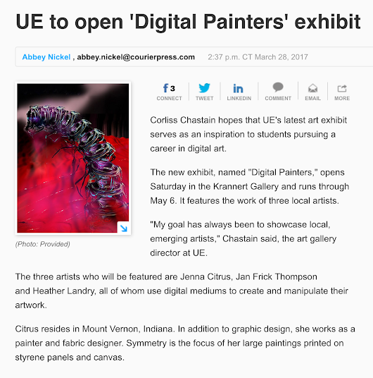 Digital Painters Exhibition at University of Evansville