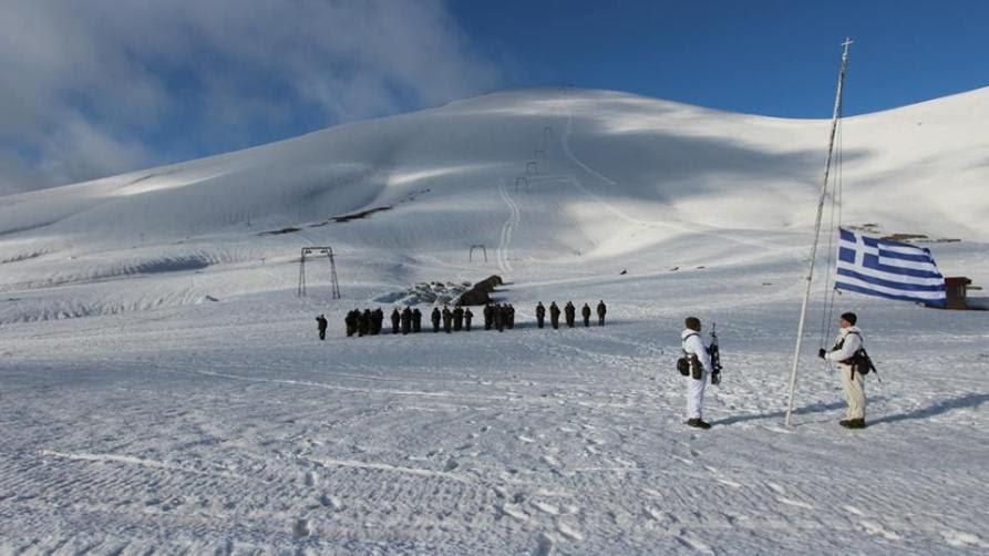 Ορεινή εκπαίδευση στα χιόνια. Φωτογραφία, Γραφείο Τύπου ΓΕΣ