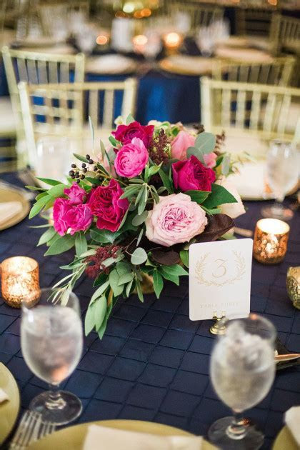 This gorgeous centerpiece by Kate Foley Designs highlights