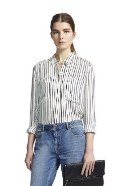 Whistles Romy Drawn Strips Shirt