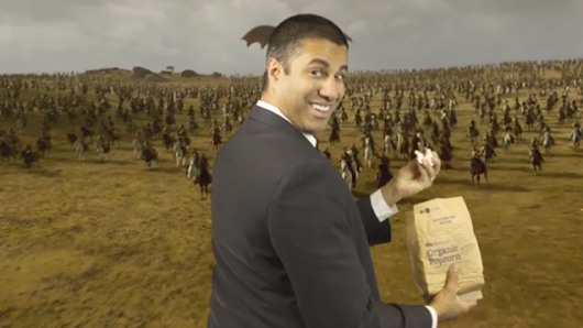 The FCC's Ajit Pai now openly mocking net neutrality protesters with his dumb new video
