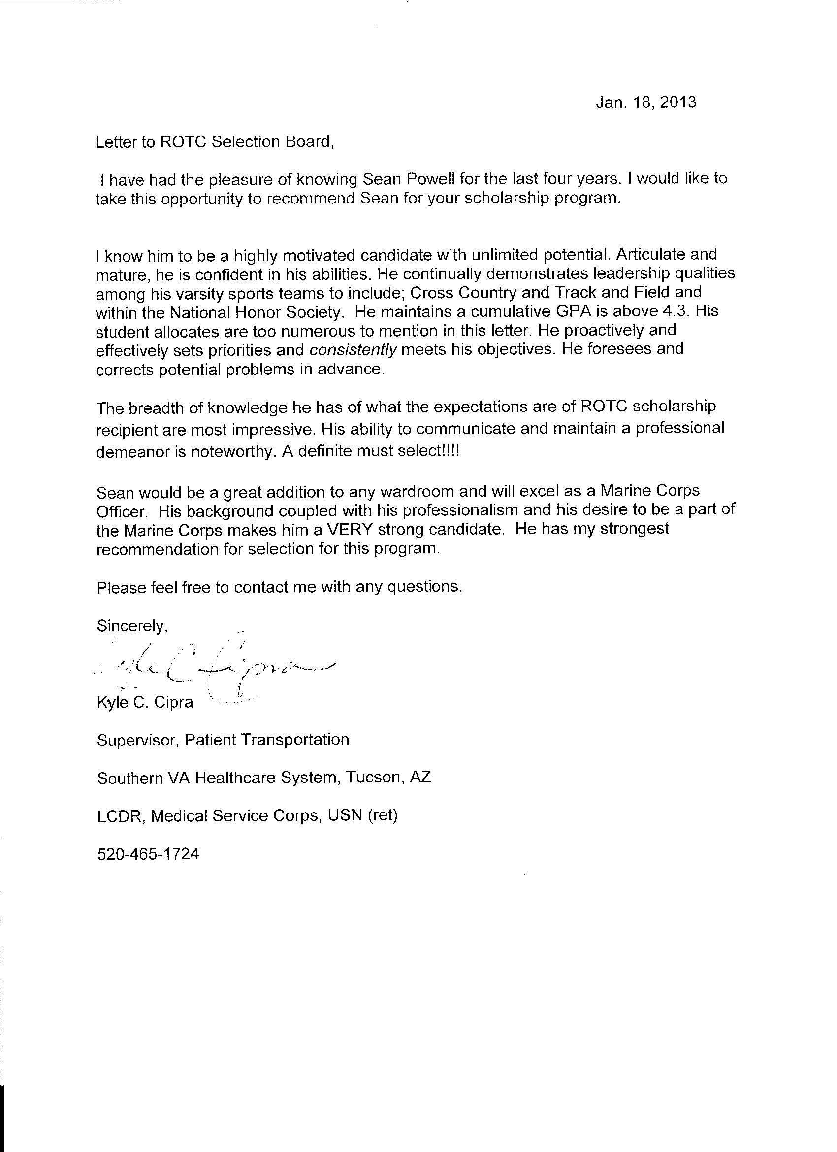 letter of rec for sean powell 1