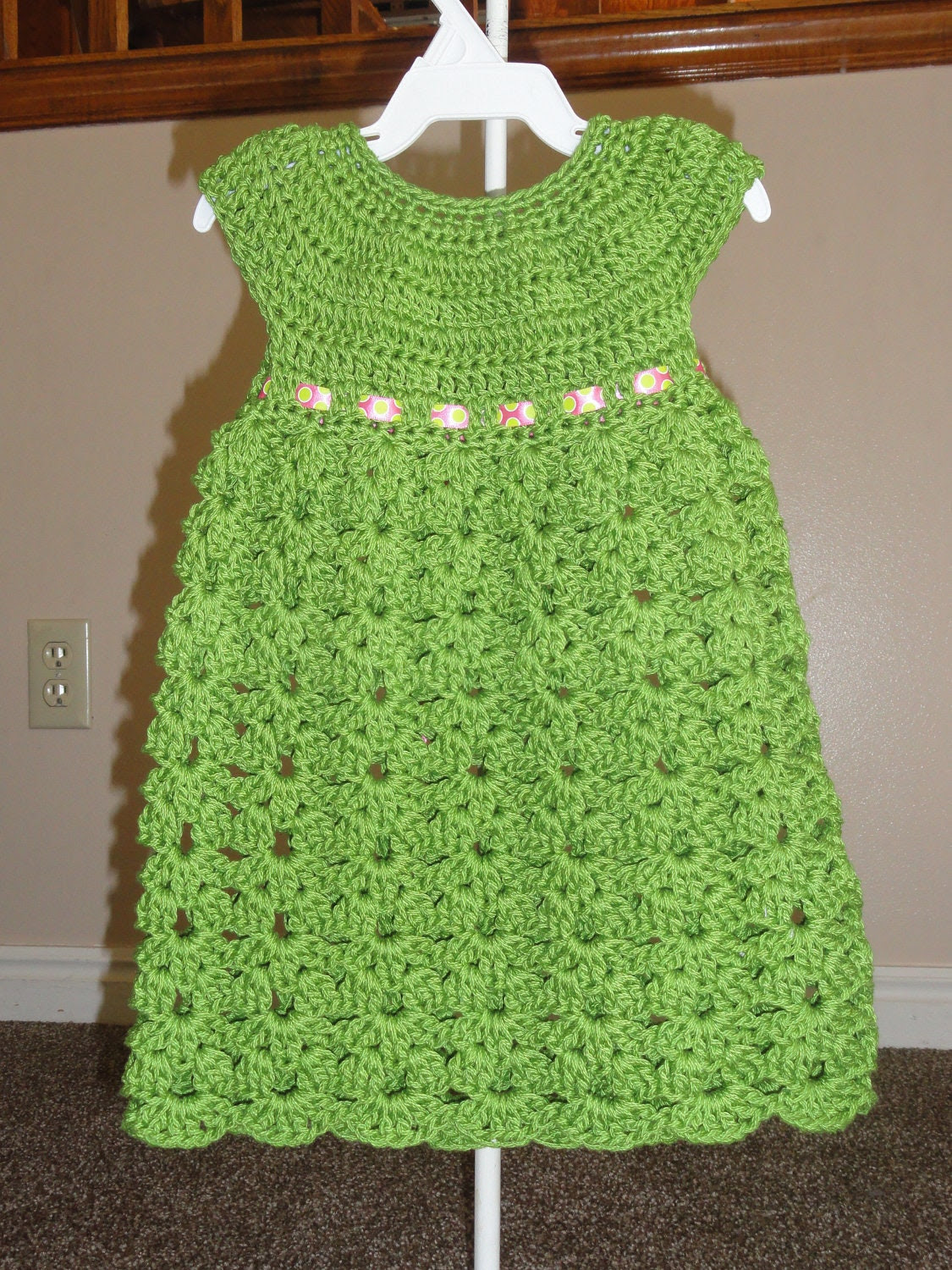 Fun and Easy Kaylen Dress Crochet Pattern Sizes 12 Months, 2T and 3T