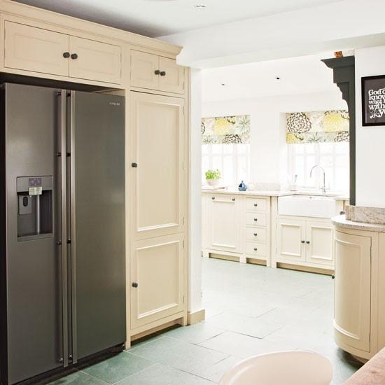 Kitchen with fridge-freezer | Cream kitchen design idea ...