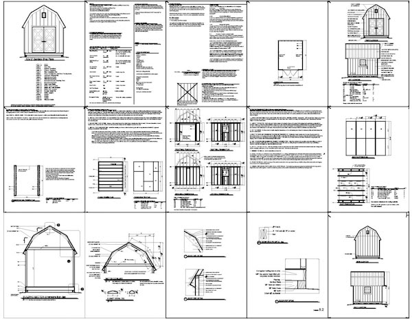 10x12 Barn Shed Plans Gambrel