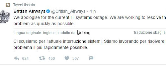 British Airways: blocco al sistema informatico, voli in tilt in mezzo mondo - Ilmetropolitano.it
