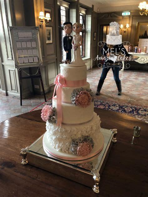 Wedding Cake  Sugar Ruffles and Lace   Mel's Amazing Cakes