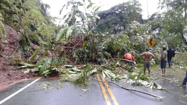 CARRETERA A YURIMAGUAS. Bloqueada por intensas lluvias