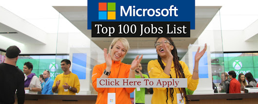 Jobs in Microsoft. 33+ New Jobs Posted. Click Here to Apply