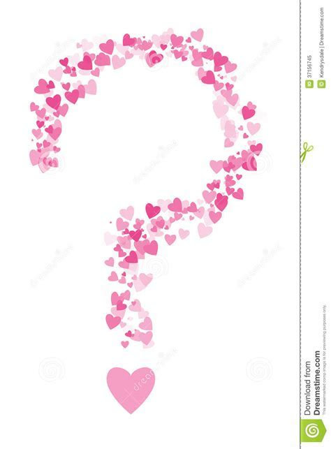 Valentines Hearts In The Shape Of A Question Mark Royalty