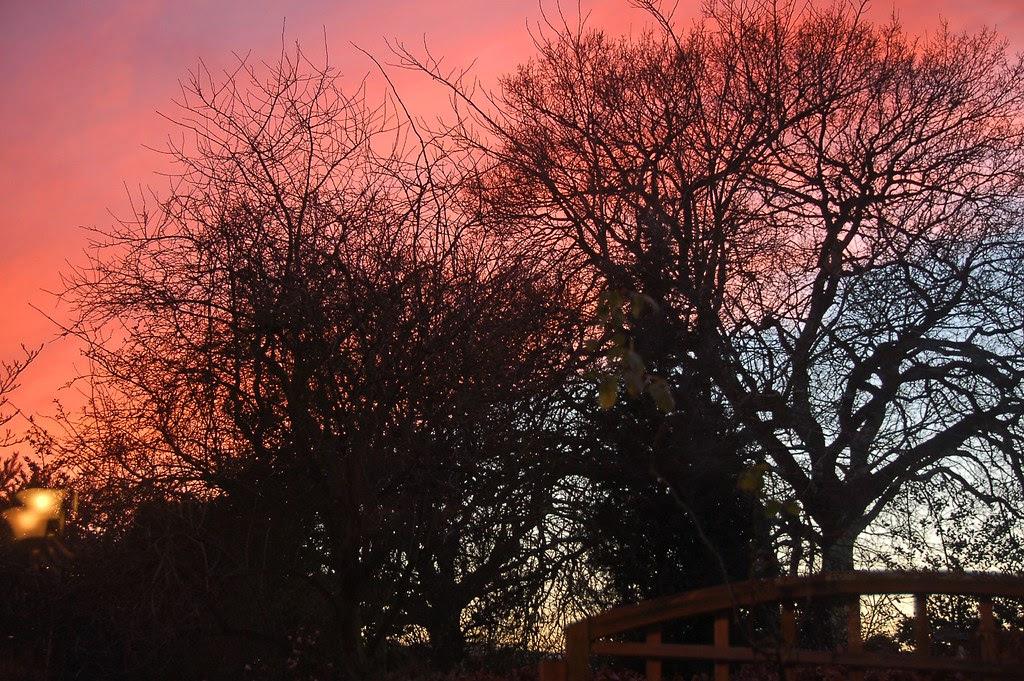 sunset, loughborough 4.00pm christmas day