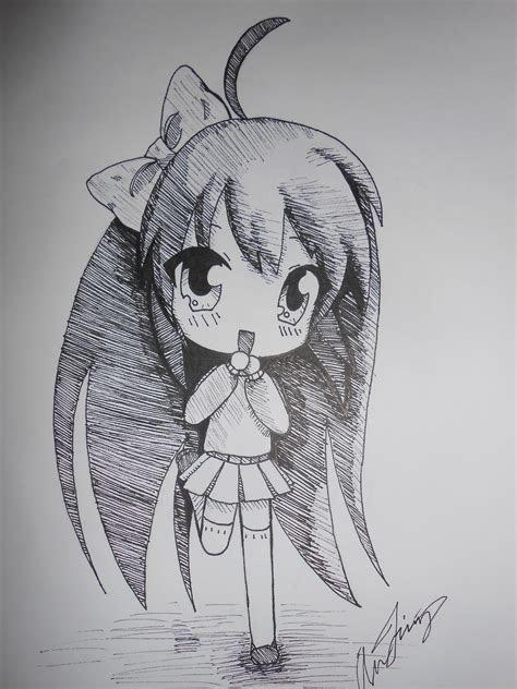 easy anime drawings  pencil chibi drawings