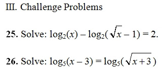 Logarithmic Equations Worksheet Pdf With Key 27 Log Questions