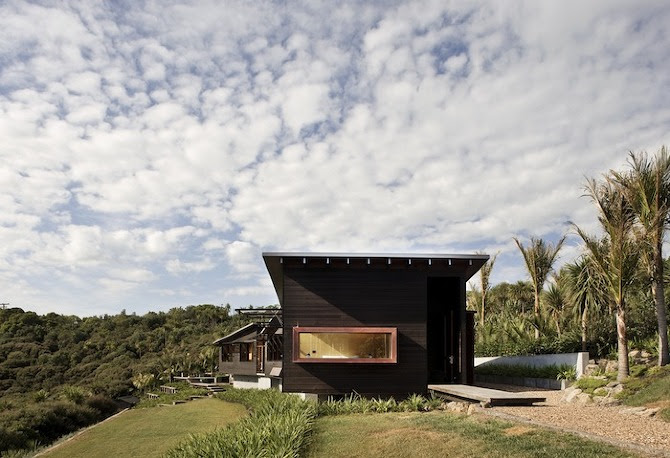image%201%20north%20end%20exterior Owhanake Bay house by Strachan Group Architects in THISISPAPER MAGAZINE