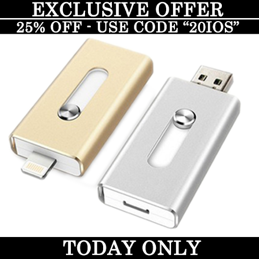 Free product with purchase of iPhone Flash Drive
