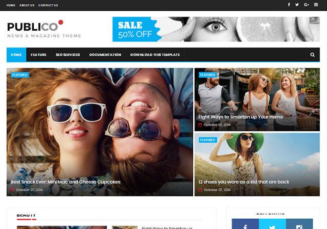 Publico Magazine Blogger Template