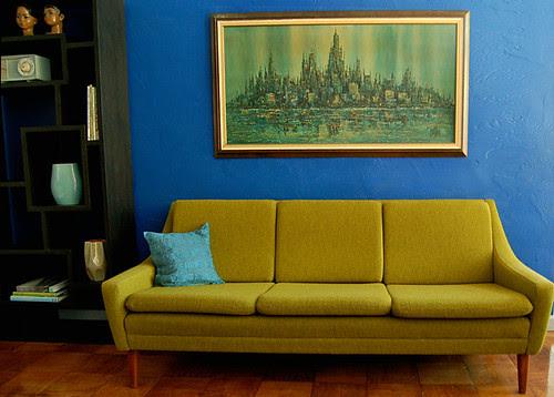 Reupholstered Dux Sofa