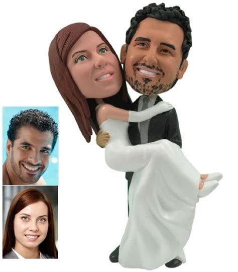 Hand Made Personalized Wedding Cake Topper Of A Groom