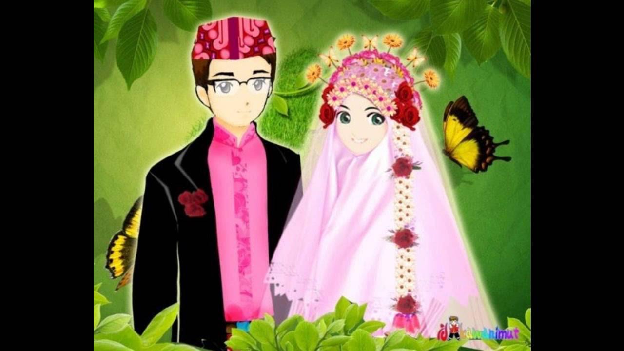 Gambar Kartun Islami Karang Muslim Iklan Gambar Animasi Romantis