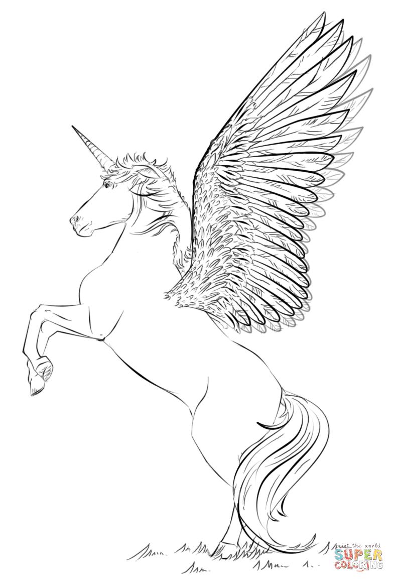 Klick das Bild Einhorn mit Flügeln
