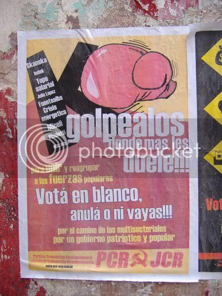 Poster incitando al ausentismo electoral