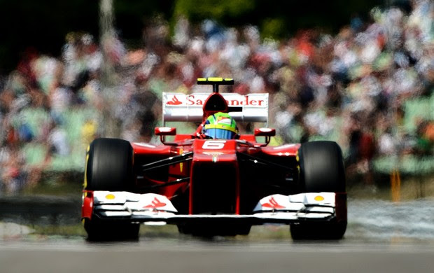 Felipe Massa no treino classificatório do GP da Hungria (Foto: AFP)