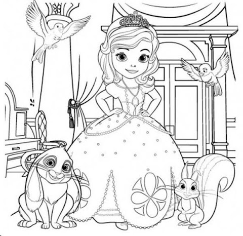 Awesome Princess Sofia Coloring Pages