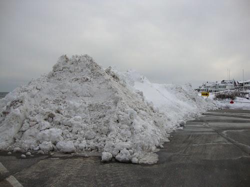 snow pile  in Sea Girt, NJ 2/13/2010