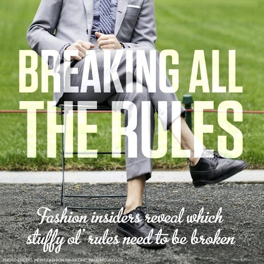 16 Menswear Style Rules Broken by the Experts -