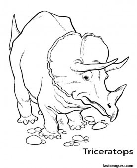 printable dinosaur triceratops coloring pages  free