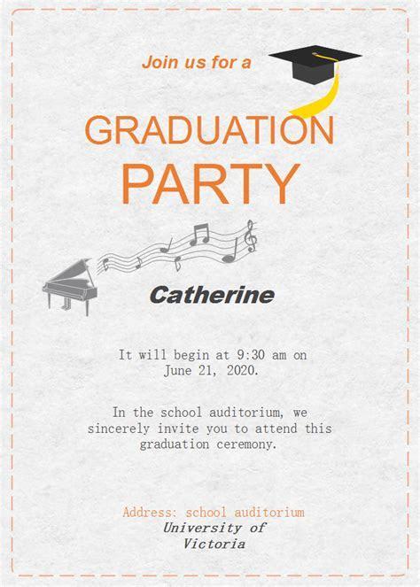 Graduation Celebration Invitation   Free Graduation