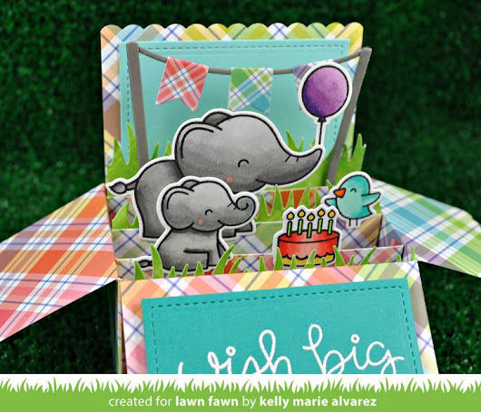 NEW Lawn Fawn! Elphie Selfie in Scalloped Box Card Pop Up! - Simon Says Stamp Blog