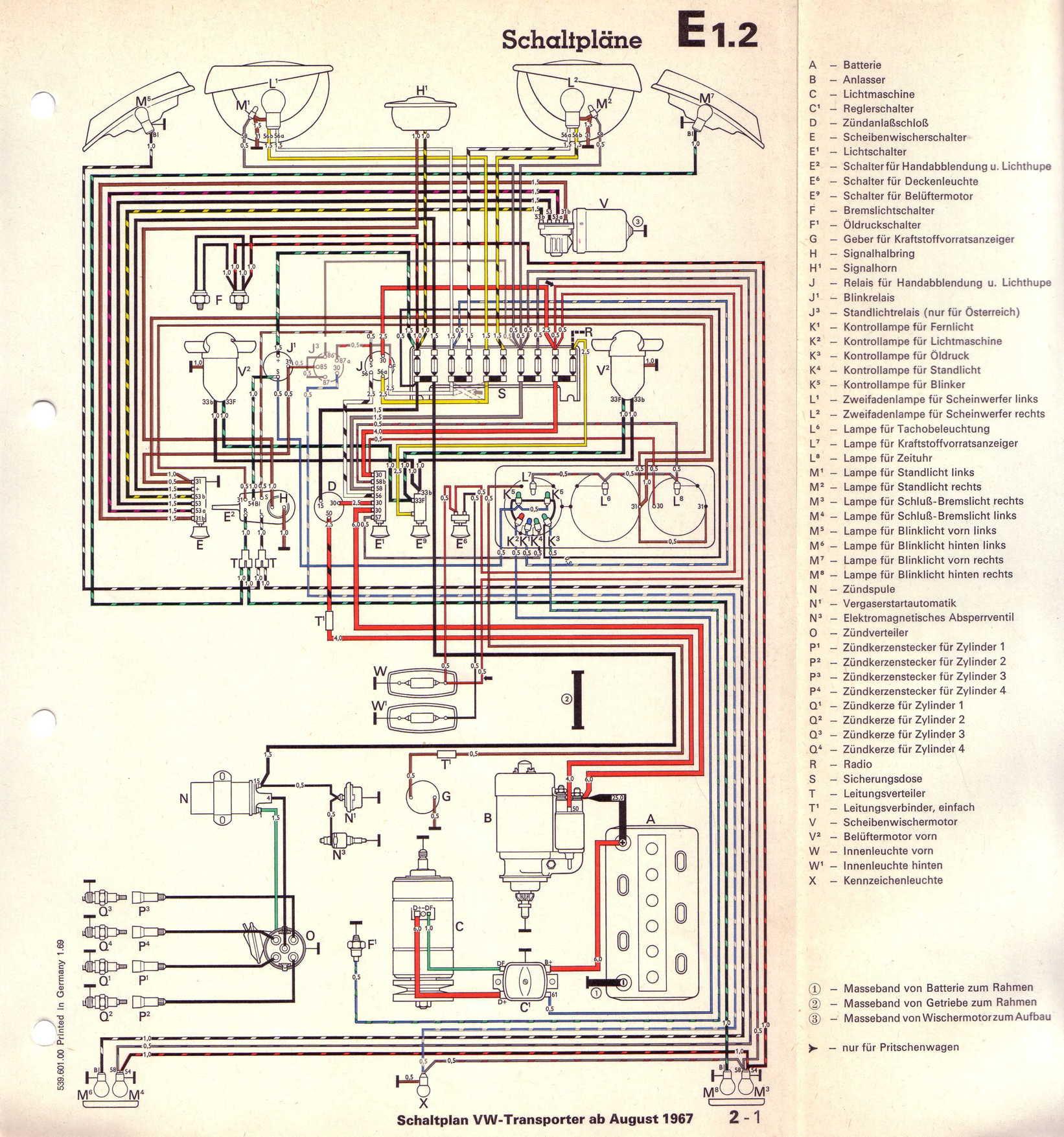 Baduras Volkswagen T2 Bulli Seite Stromlaufplane