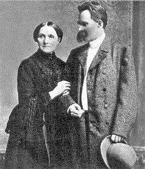 Friedrich Nietzsche and his mother.