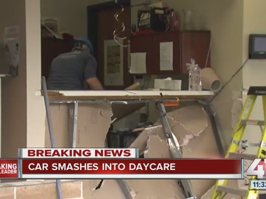Woman drives into Lenexa daycare building