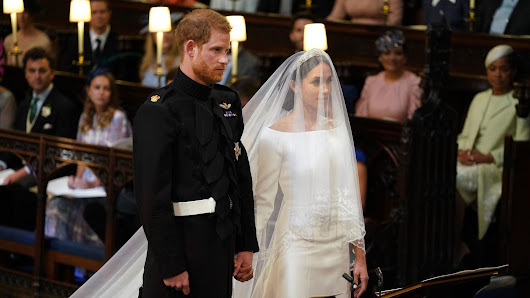 Meghan Markle marries Prince Harry wearing a wedding dress designed by Givenchy's Clare Waight Keller