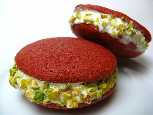 Red Velvet Gelato Sandwiches