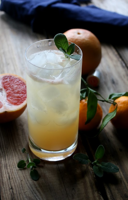 Citrus Sage Vodka Cooler - Daily Appetite
