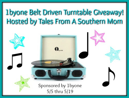 1byone Belt Driven Turntable Giveaway 5/19 ~ Tales From A Southern Mom