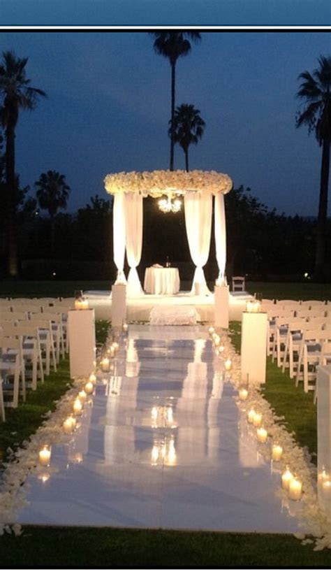 Outdoor night wedding. Gorgeous setting   Wedding Love