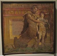 Fresco del centauro Quirón instruyendo a Aquiles