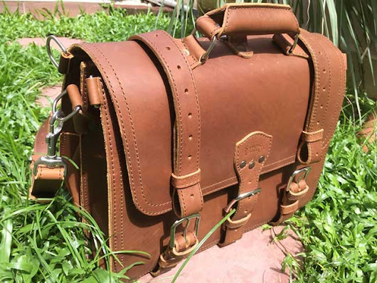 Saddleback Leather Classic Briefcase - The Most Interesting Travel Bag