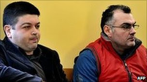 Vassilios Saraliotis and Epaminondas Korkoneas on trial in Amfissa, Greece