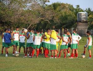 Elenco do Alecrim durante treino (Foto: Gabriel Peres/Divulgação)