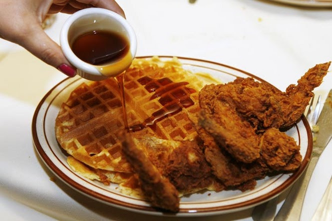 Image result for chicken and waffles