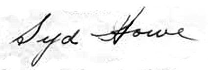 Syd Howe Signature, Syd Howe Signature
